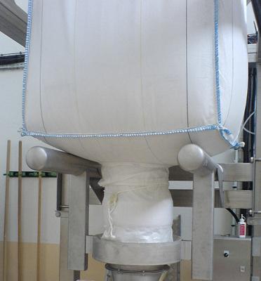 vidange-bigbag-inox-MECAPHARM-pharmaceutique-support-étanche-joint-gonflable-Mecabag