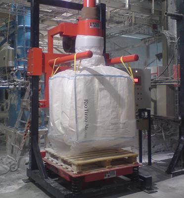 Remplissage-bigbag-vibration-densification-pesage-joint-gonflable-palette-Mecabag