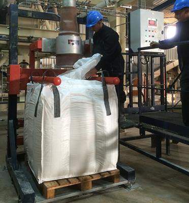 Remplissage-bigbag-palette-pesage-dosage-ergonomie-bigbag-cubique-Mecabag