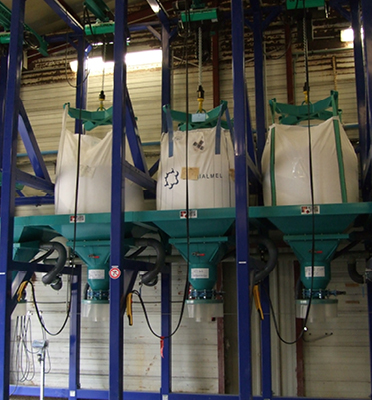 Videuses-bigbag-palan-station-multiple-conteneurs-produits-chimiques-Mecabag