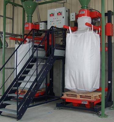 Remplissage-bigbag-poste-double-vibration-recyclage-pesage-bigbag-Mecabag