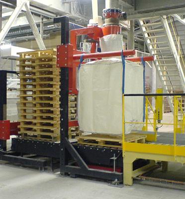Remplir-bigbag-ligne-automatique-alimentateur-de-palettes-charge-minérale-Mecabag
